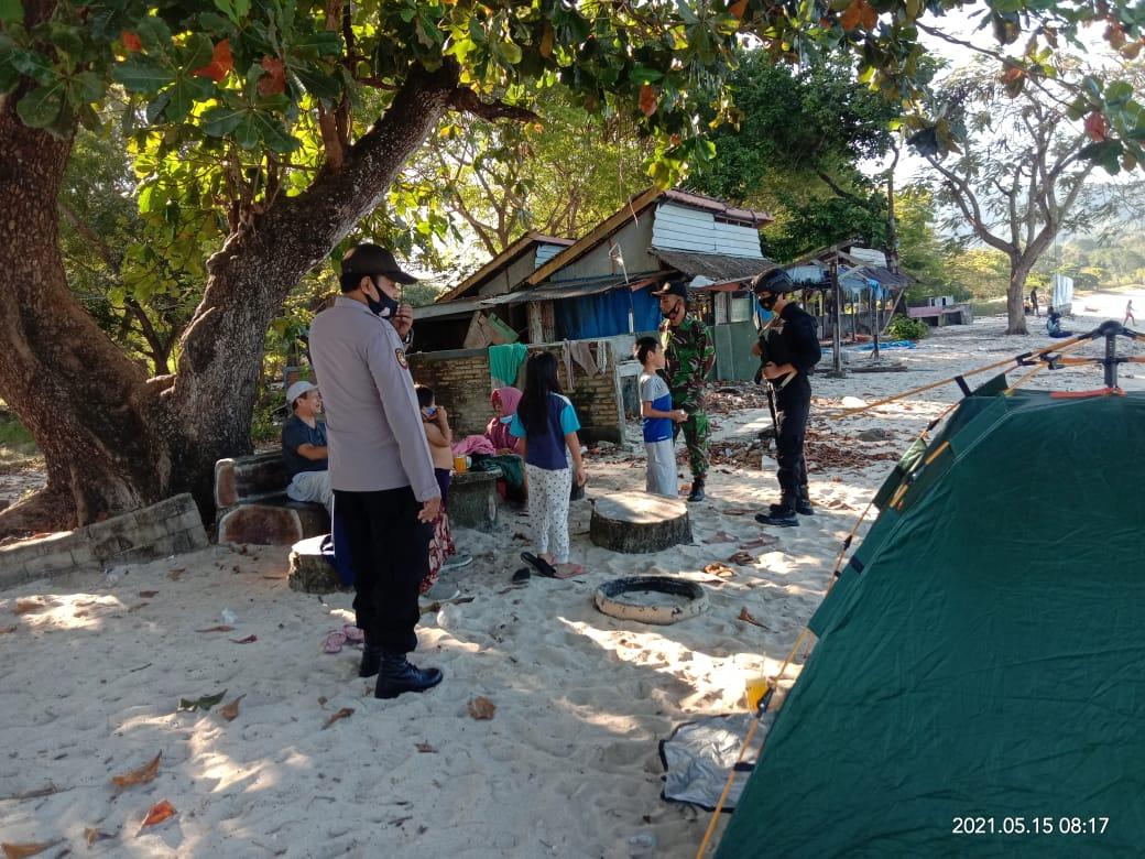 Anggota Piket PAM Operasi Ketupat Rinjani 2021 Lakukan Patroli Dialogis dan Imbauan Kamtibmas