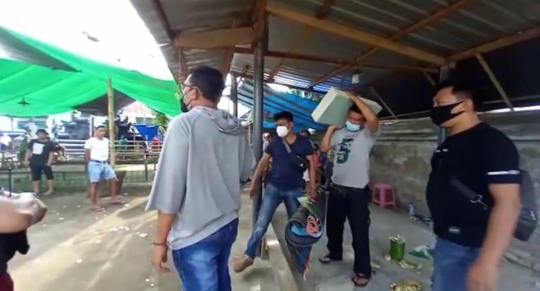 Polisi Gerebek Judi Sabung Ayam dan Bola Adil di Cakranegara.