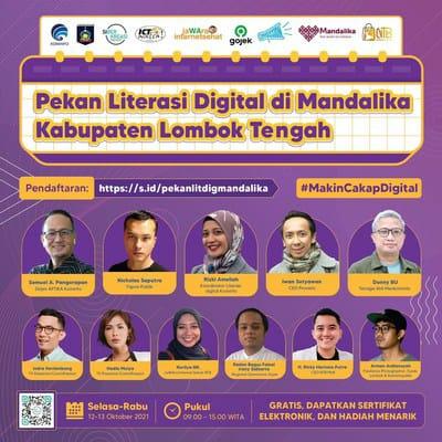 Pekan Literasi Digital di Mandalika, Cek Pendaftaran di sini...