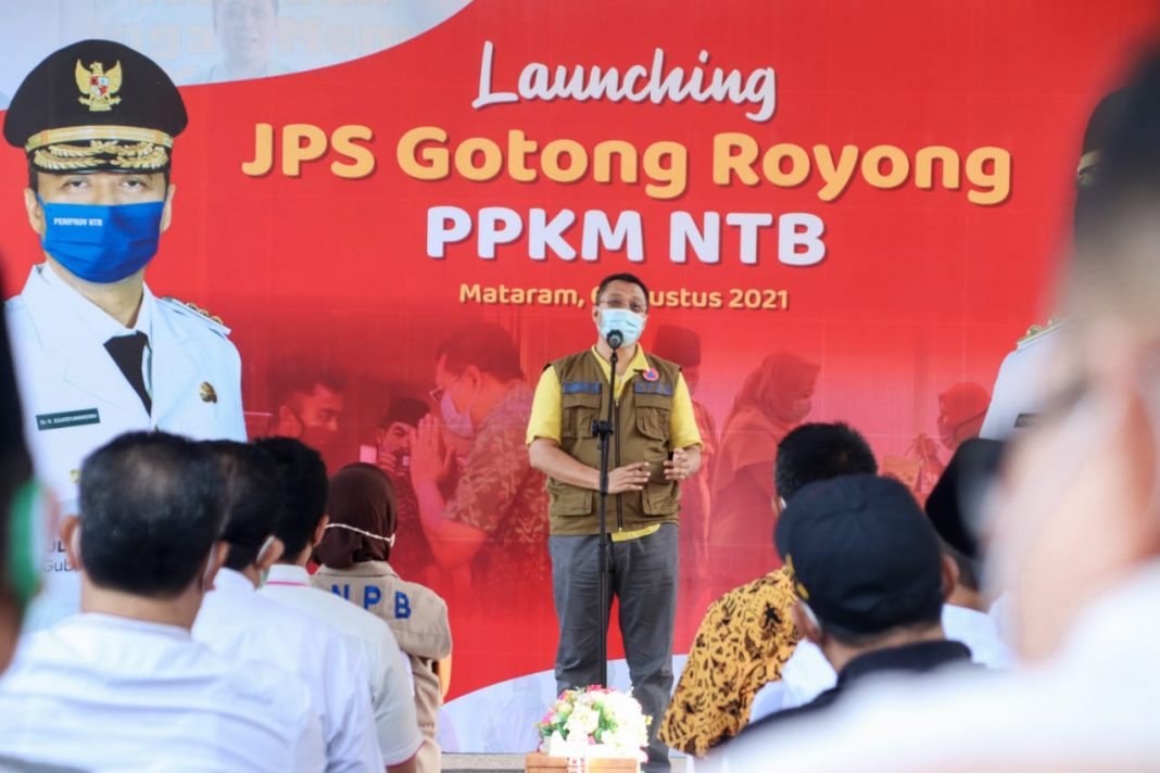Gubernur NTB Launching 27.000 Paket JPS Gotong Royong Kepada Pedagang Kecil Terdampak PPKM